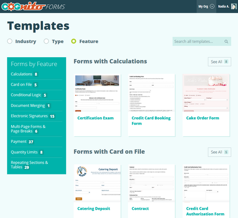 Cognito Forms customizable templates