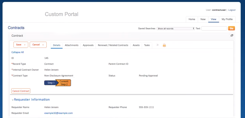 Contract portal