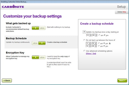 Customize backup policies