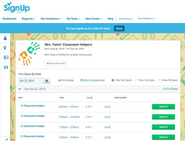 SignUp.com classroom helper