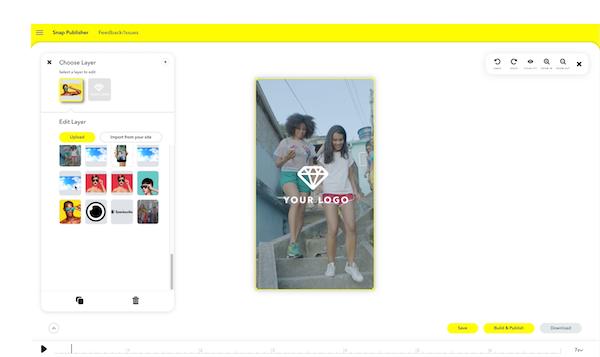 Snapchat choose layer