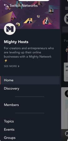 Mighty Networks hosts