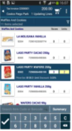 Mobisale product lists