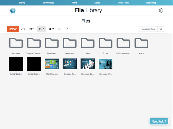 Showcase Workshop file library