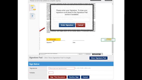 DocVerify enter signature