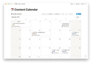 Notion content calendar