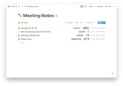 Notion meeting notes