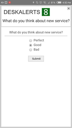 DeskAlerts survey screenshot