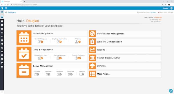 SmartLinx dashboard