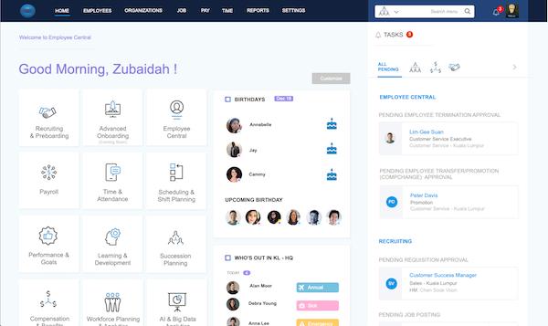 Talentcloud dashboard