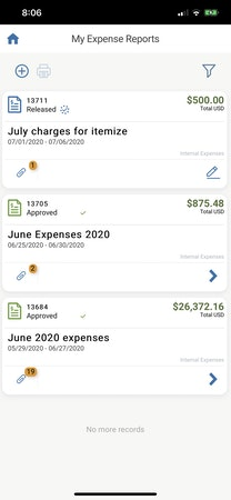 DATABASICS expense mobile