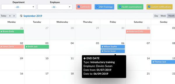 HRnest tracking deadline