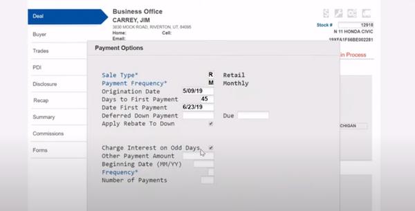 Dealertrack DMS payment management