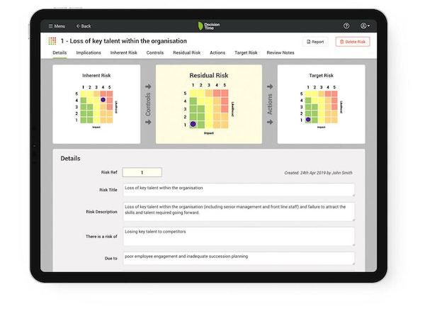 Decision Time Risks evaluation screenshot