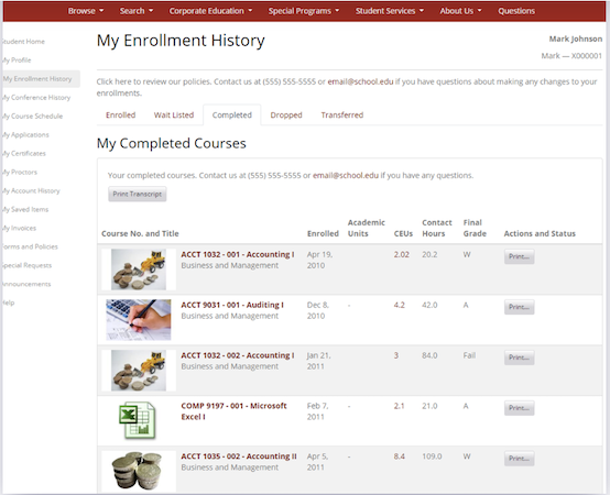 Destiny One enrollment screenshot