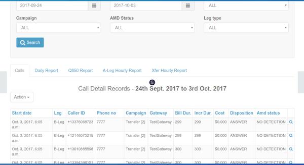 DialerAI call detail screenshot