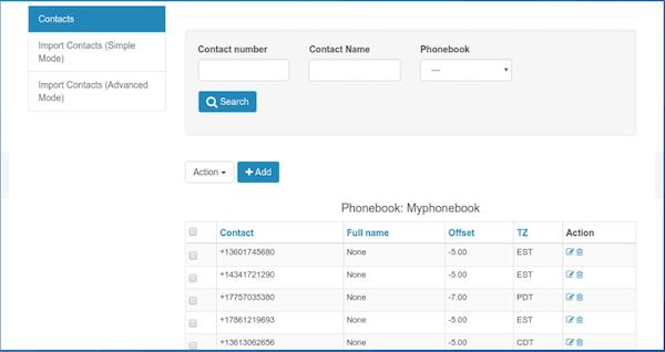 DialerAI contact management screenshot