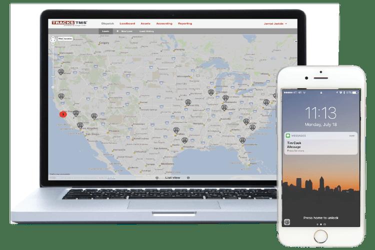 Dispatch map & fleet visibility