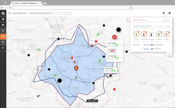 Dista Field location search screenshot