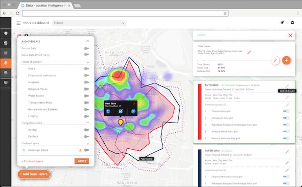 Dista Field overlays screenshot