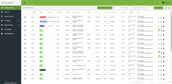 RapidAP document library
