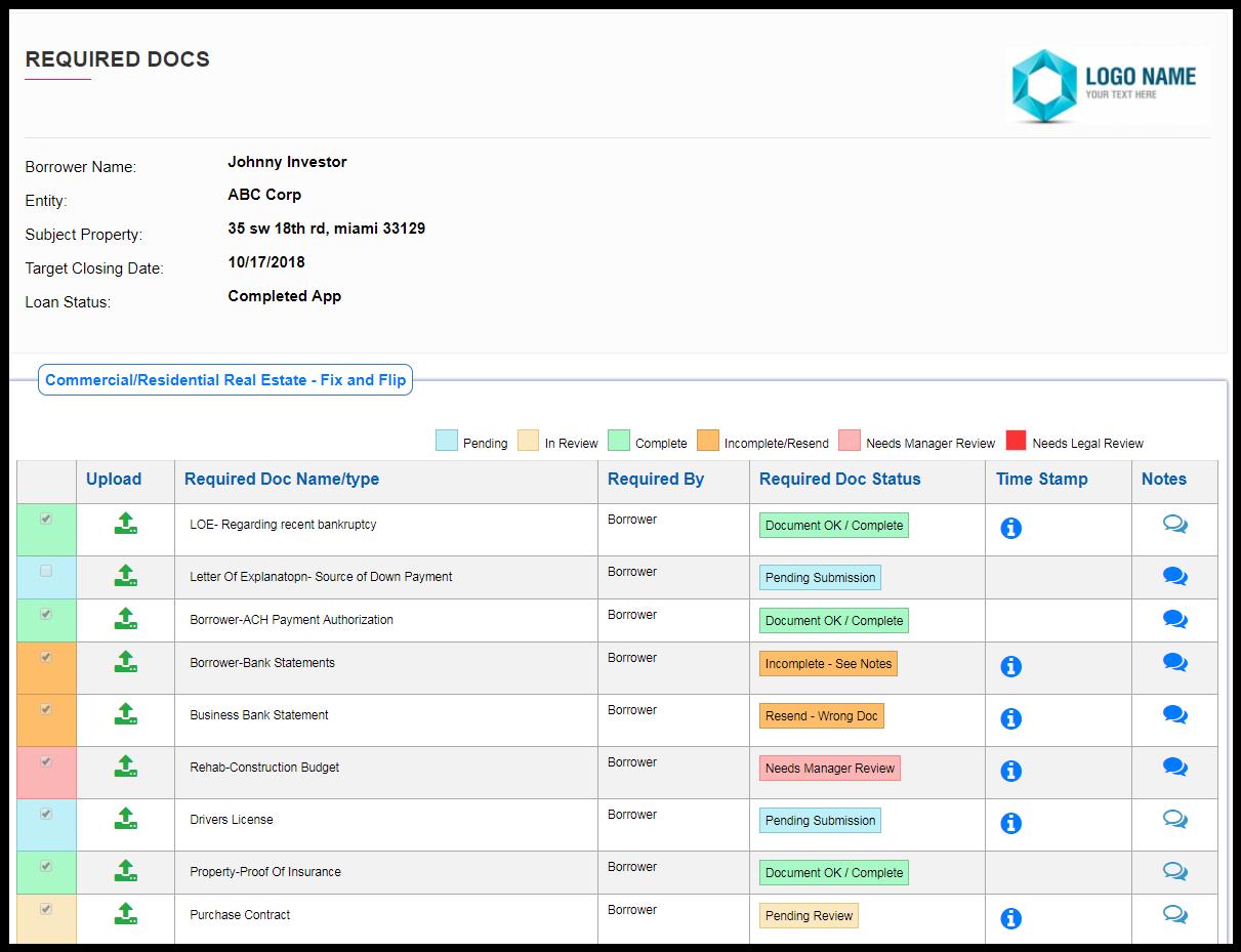 Docs loan status portal