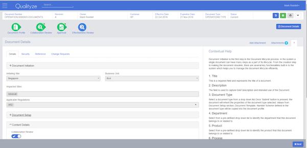Qualityze Document Details