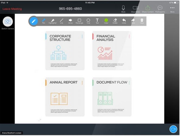 RingCentral Meetings presentation & document sharing