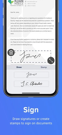Drawing signatures