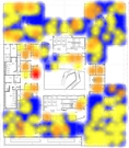 Heat map showing utilization patterns