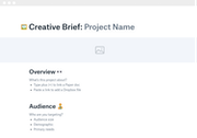Dropbox Paper creative brief template