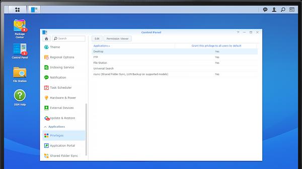 DiskStation Manager account privileges