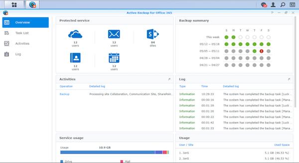 DiskStation Manager data backup