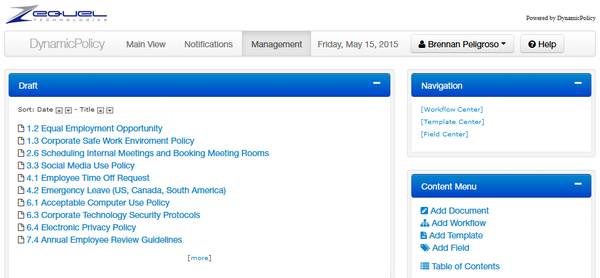 DynamicPolicy document management screenshot