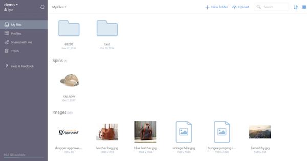 Sirv my files