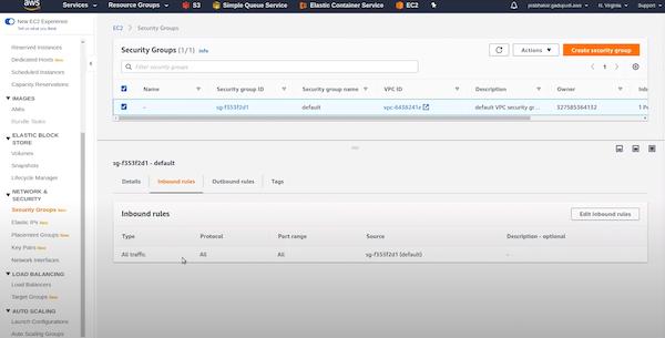 Amazon ElastiCache security groups
