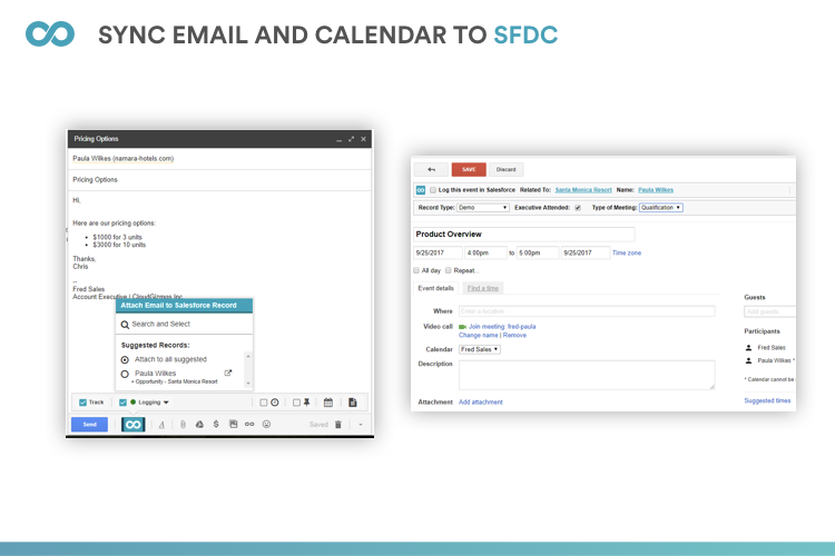 Email and calendar synchronization