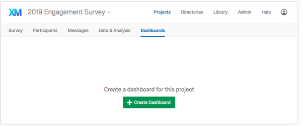 Qualtrics EmployeeXM create dashboard