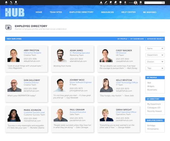 IC Source employee directory screenshot