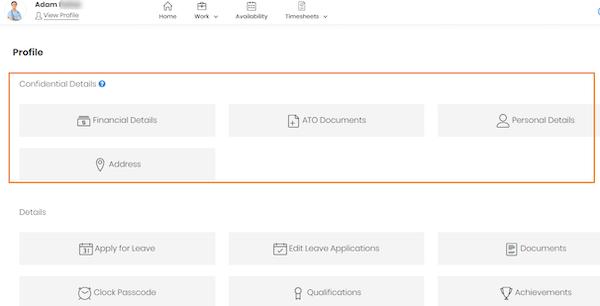 foundU employee portal screenshot.
