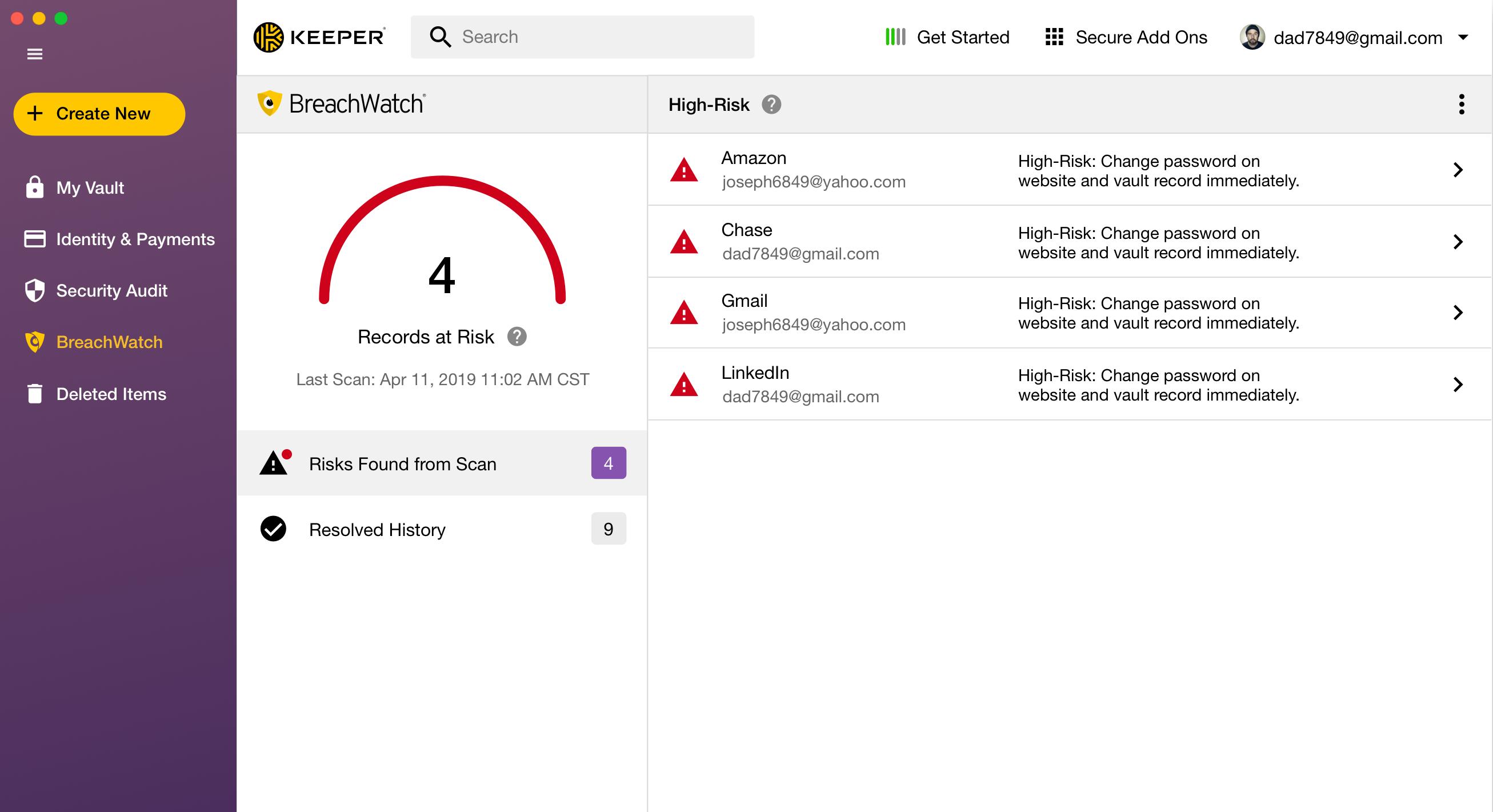 Keeper - Dark Web Monitoring and Alerts