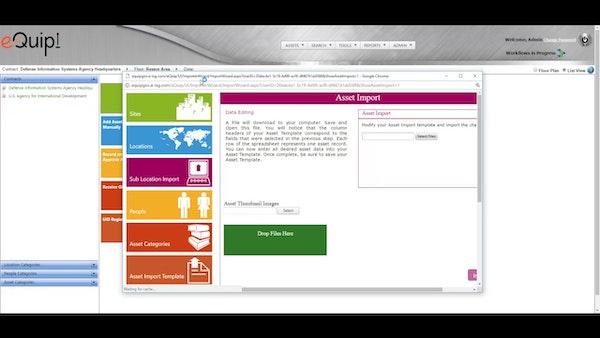 eQuip! asset import screenshot
