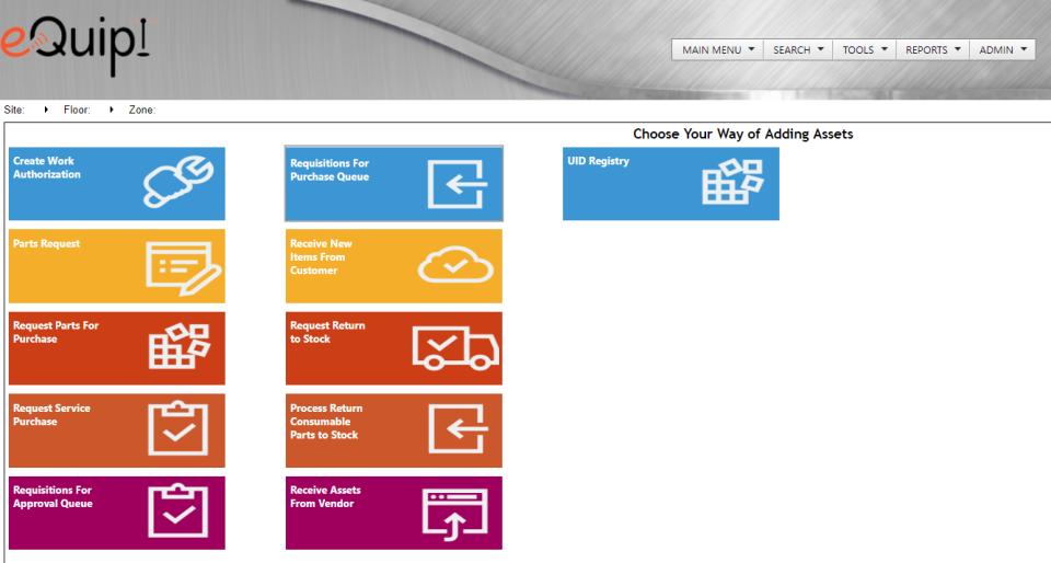 eQuip! - eQuip! asset life cycle management screenshot
