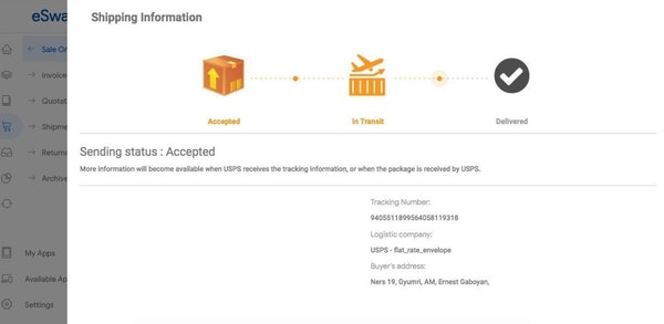 eSwap track orders