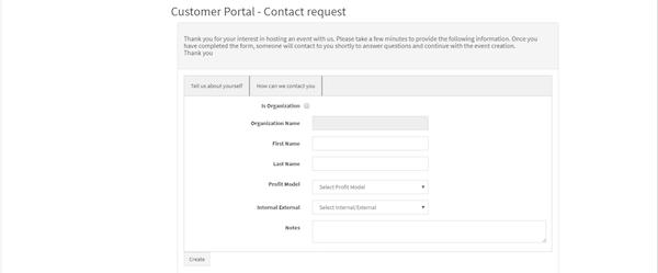 Event Guru customer portal