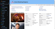 Event Booking Engines dashboard