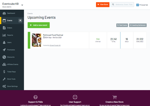 Eventcube upcoming events