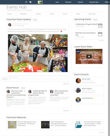 Engagement Communities Events Hub