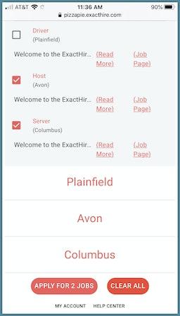 Mobile job listings