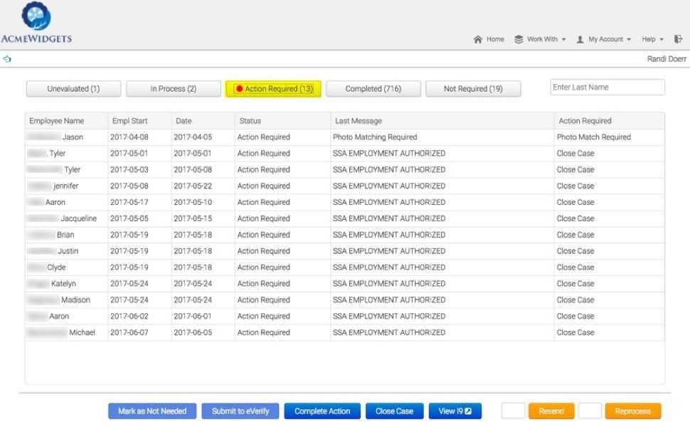 E-Verify case management